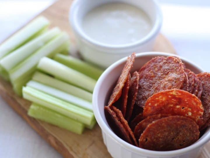 low carb pepperoni chips