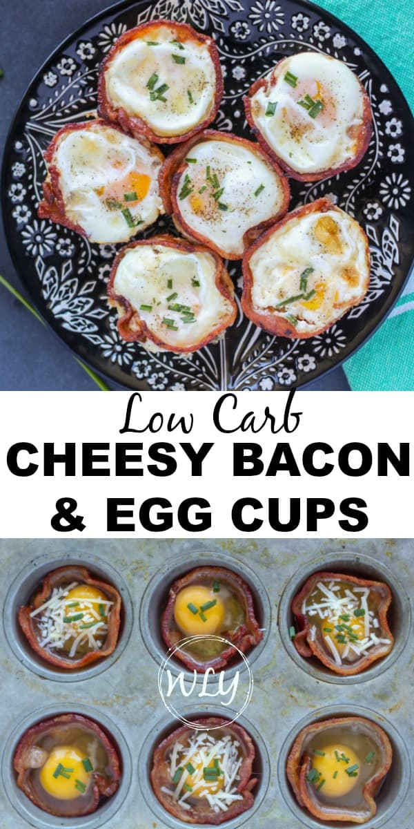 low carb cheesy bacon and egg cups