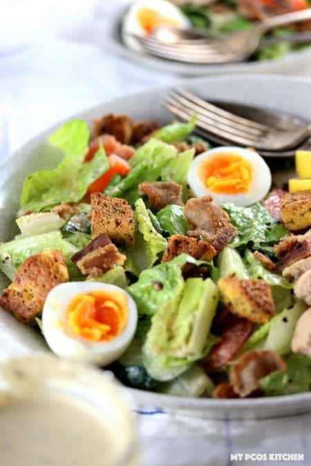 keto chicken caesar salad recipe