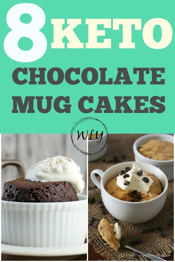 8 keto chocolate mug cakes
