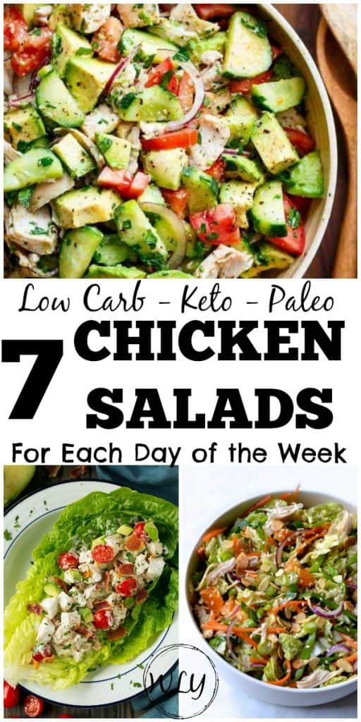 easy low carb chicken salads