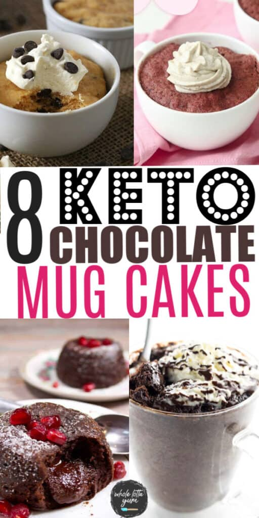 low carb desserts in a cup pin for Pinterest
