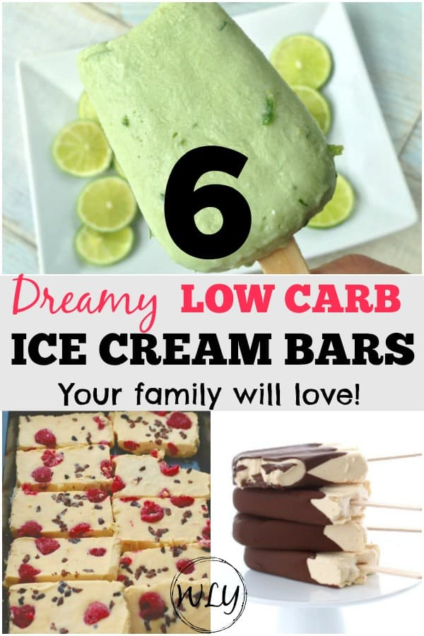 6 easy low carb ice cream bar recipes