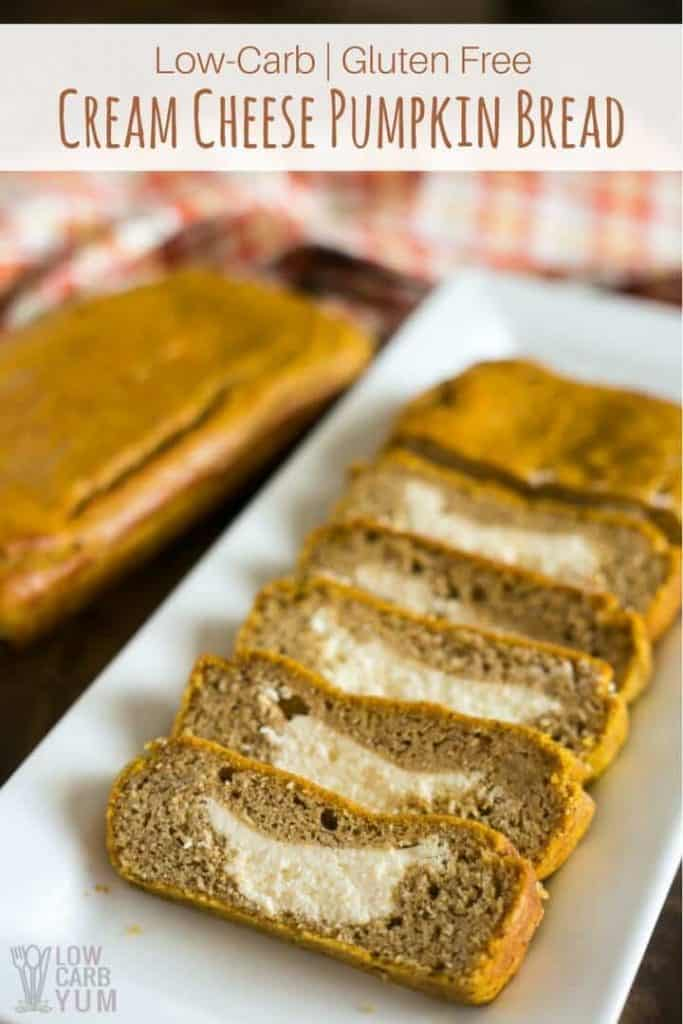 keto pumpkin cream cheese bread
