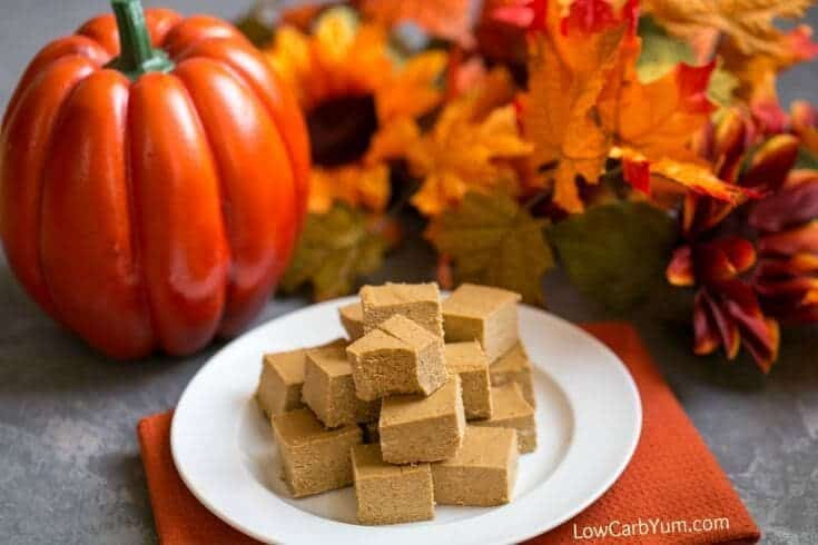 low carb pumpkin fudge