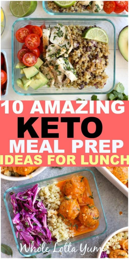 10 easy keto meal prep lunches