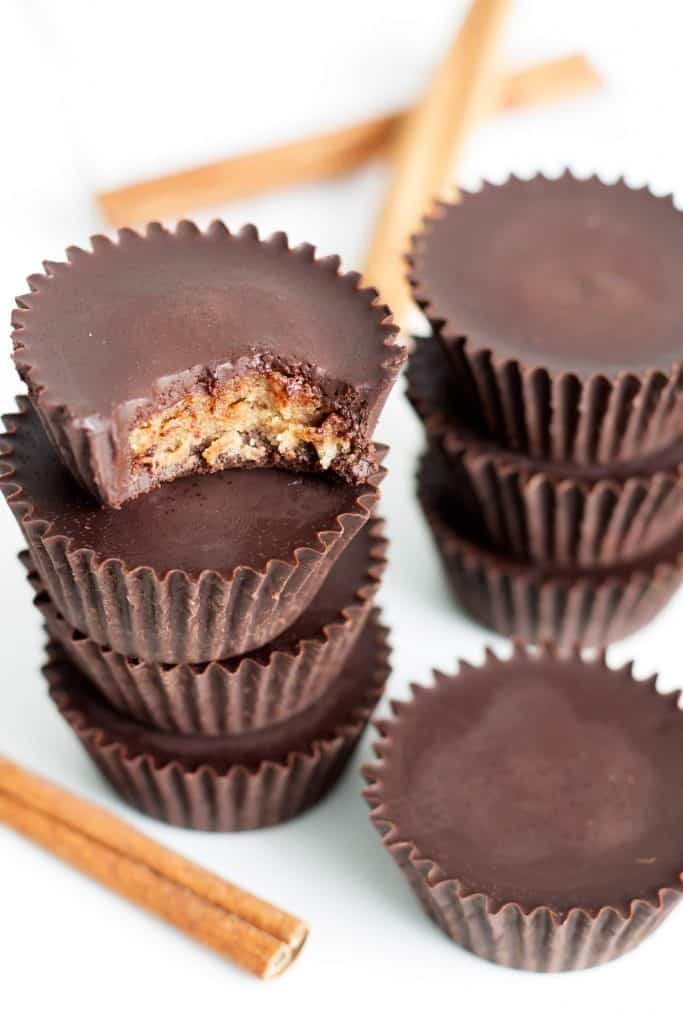low carb pumpkin spice almond butter cups