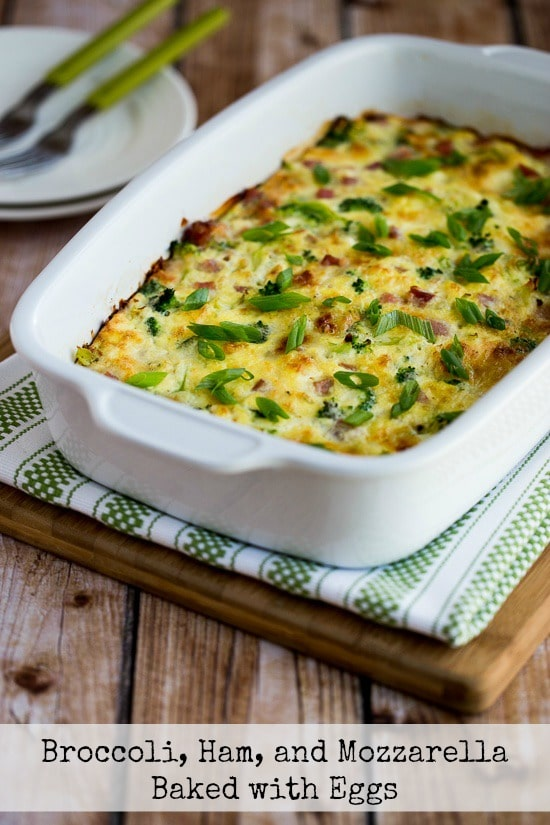 low carb ham and broccoli breakfast casserole
