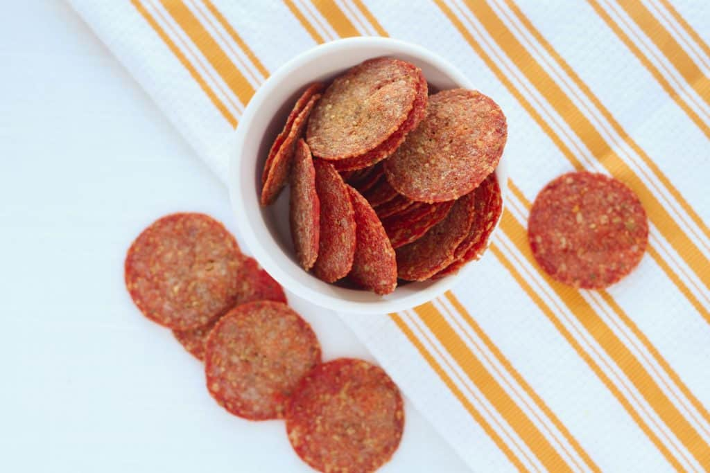 how to make pepperoni chips