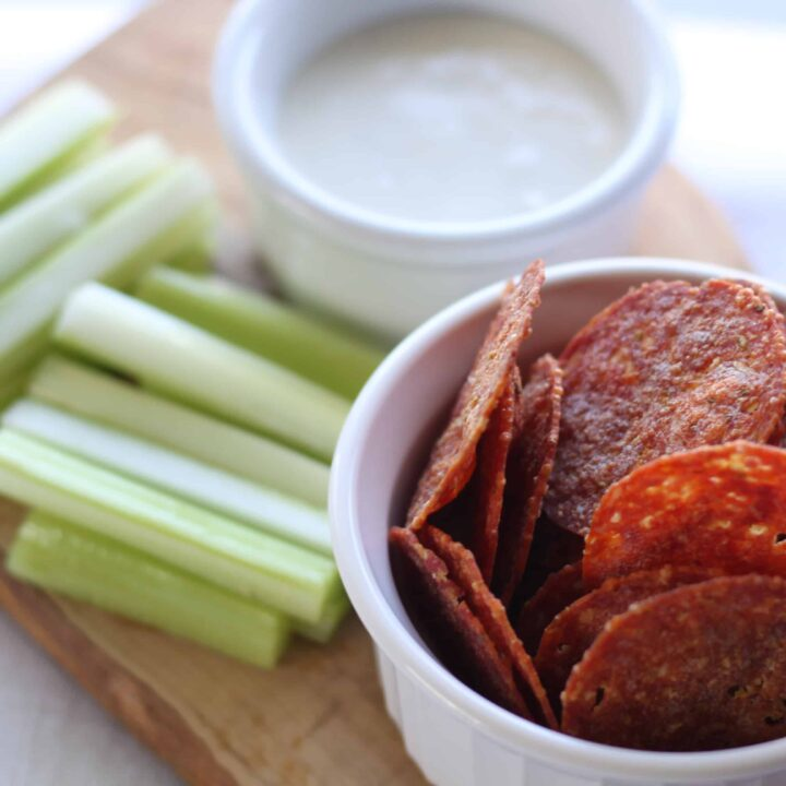 Pepperoni Chips (Microwave or Oven)