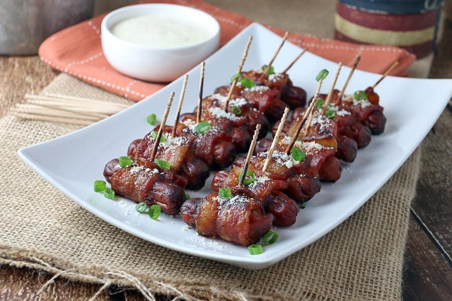 keto bacon wrapped smokies