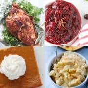 keto thanksgiving dinner recipes collage