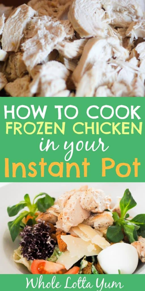 how to cook chicken from frozen pressure cooker