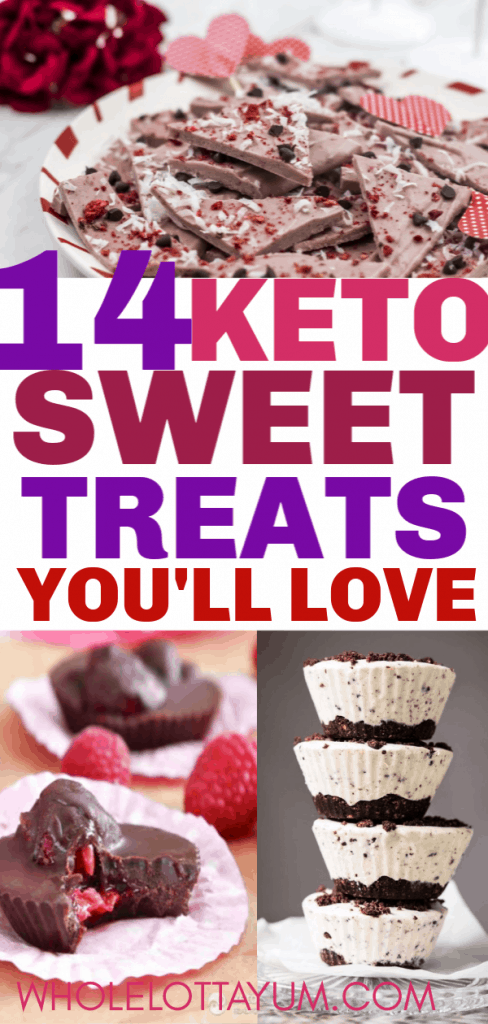 14 keto candy and fat bombs for Valentines Day