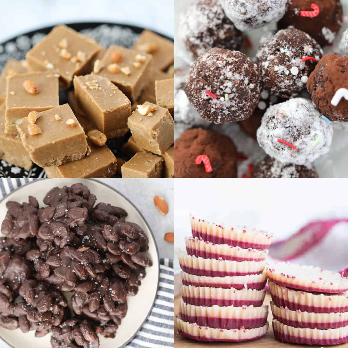 keto candy recipes collage of ideas