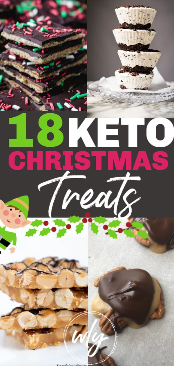 holiday keto candy recipes pin for Pinterest