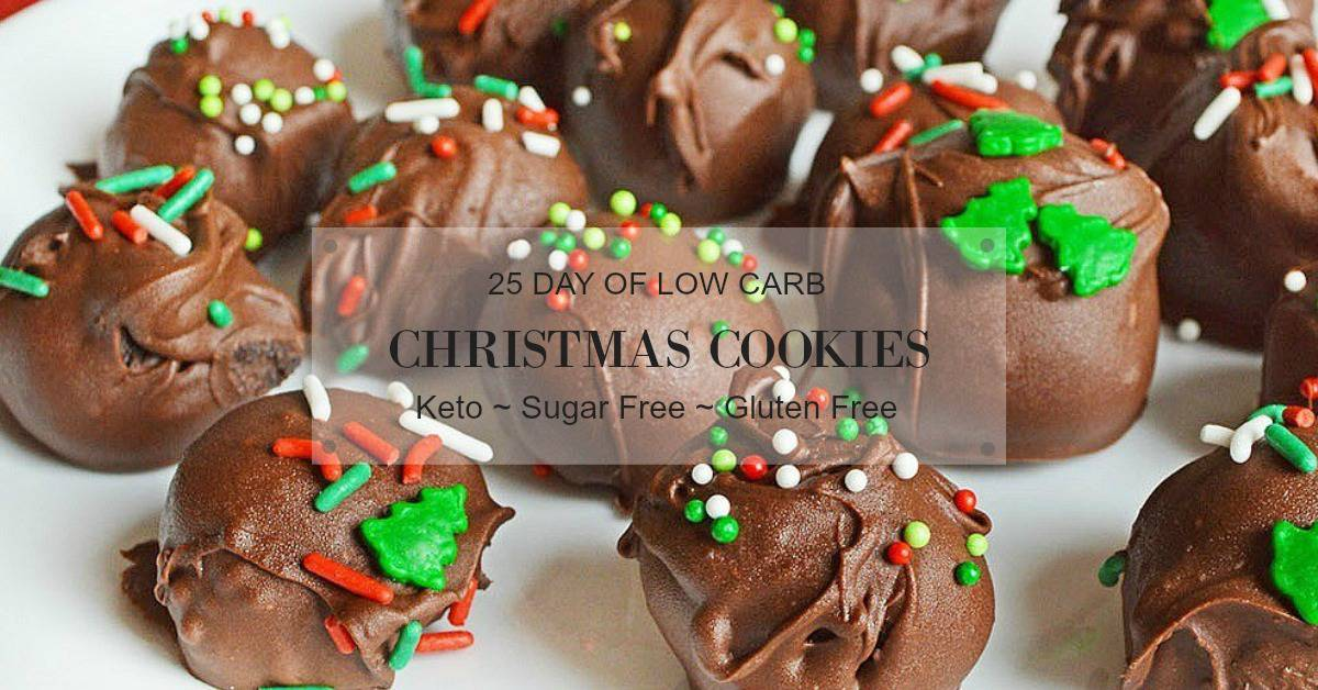 keto christmas cookies cover image for post