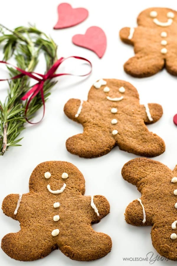 keto gingerbread cookies are popular keto christmas cookies to make with kids