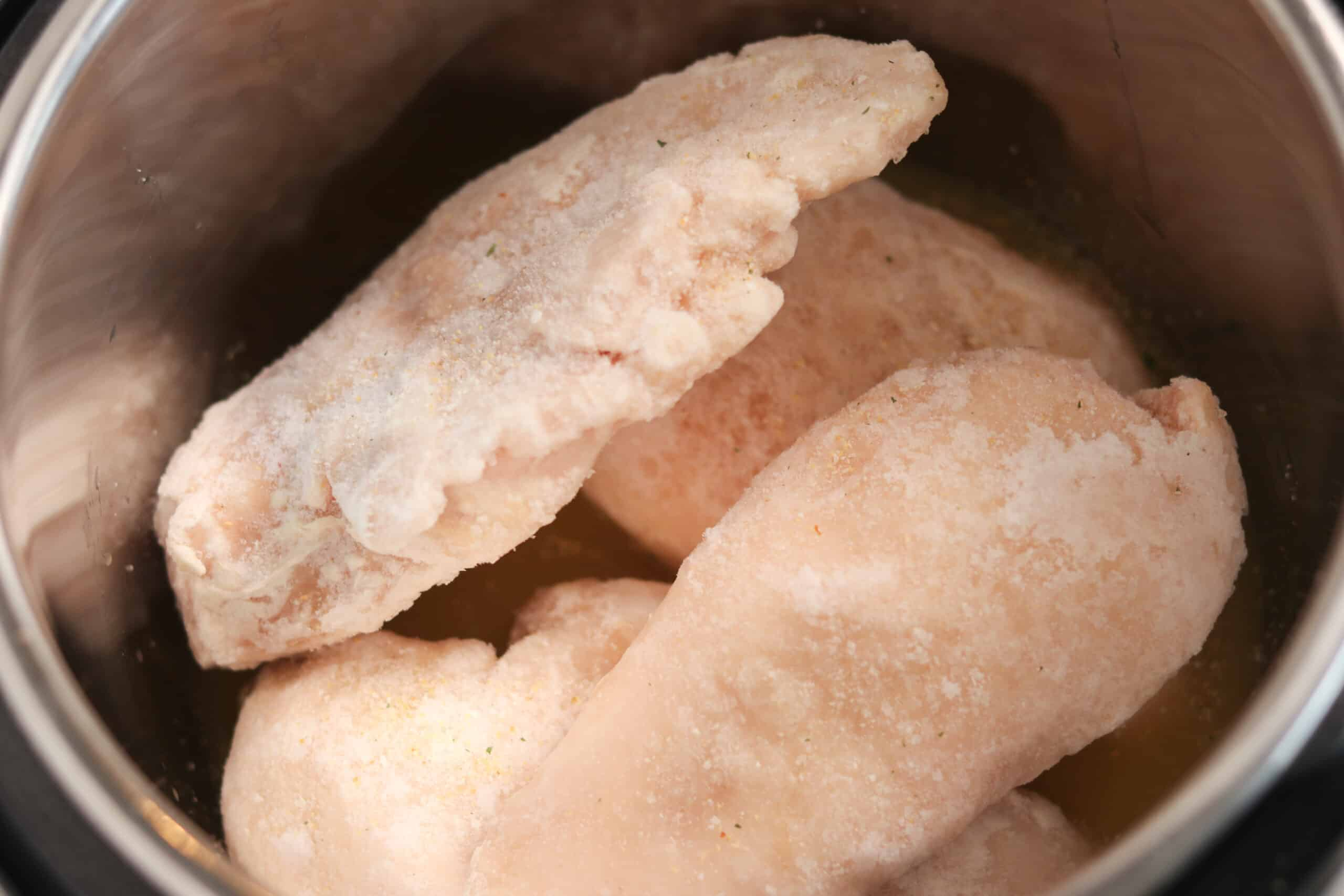 pressure cooker frozen chicken breasts