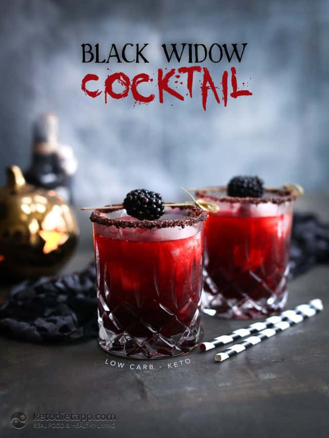 keto halloween cocktail