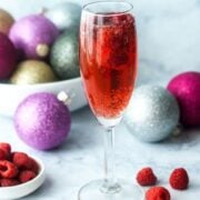 low carb raspberry mimosa