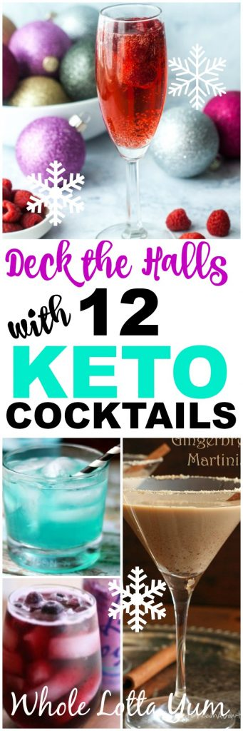 12 keto holiday cocktails for Christmas and New Years