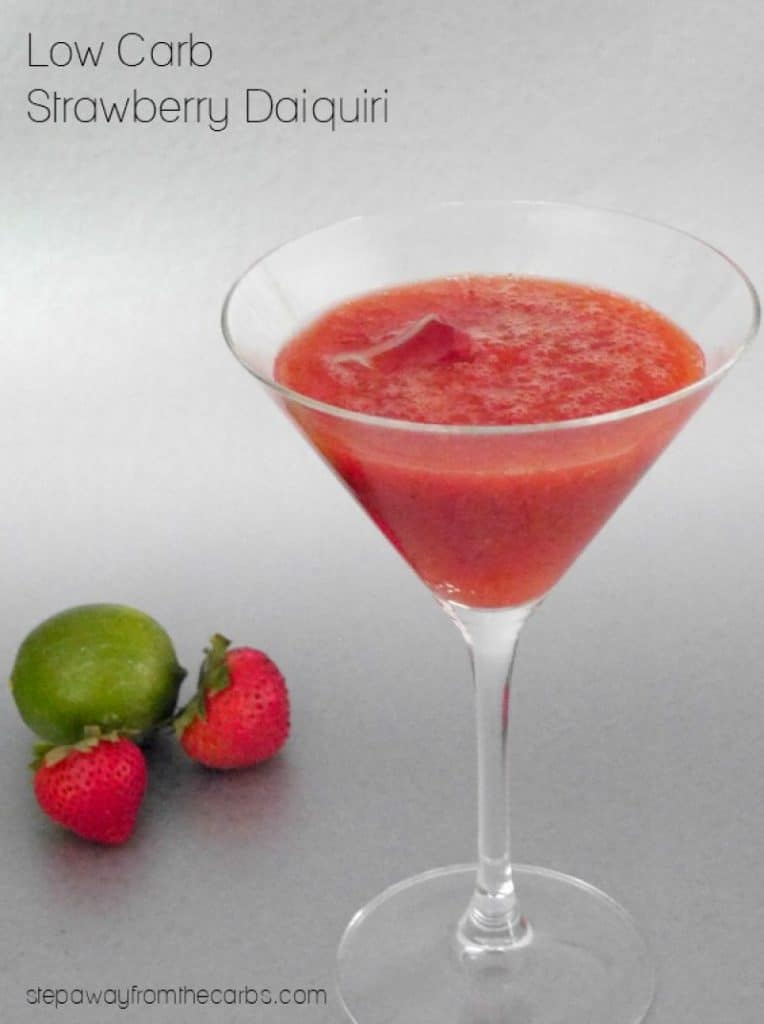 low carb strawberry daiquari