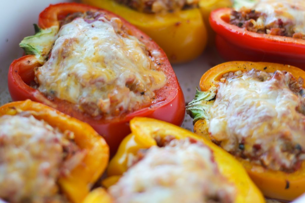 cheap low carb meals like stuffed peppers using ground beef