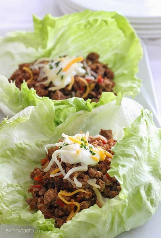 keto turkey taco lettuce wraps