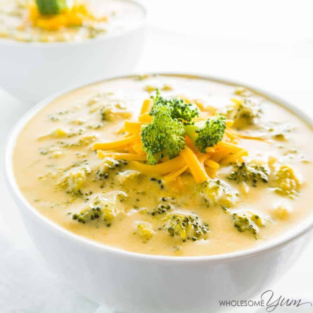 eat cheap keto meals like low carb broccoli cheddar soup