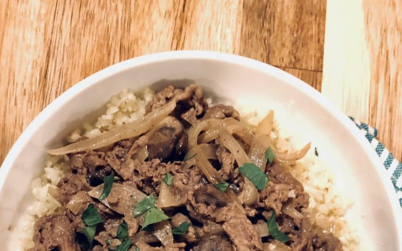 20 Min Easy Beef Stroganoff Recipe ~ Low Carb, Keto & Paleo Too!