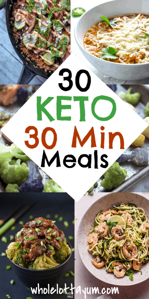 30 low carb and keto 30 minute meals