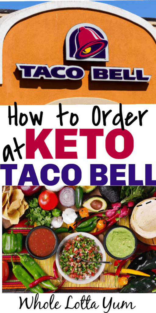 image regarding Taco Bell Printable Menu referred to as The Easiest Keto Taco Bell Purchasing Rules - Total Lotta Yum