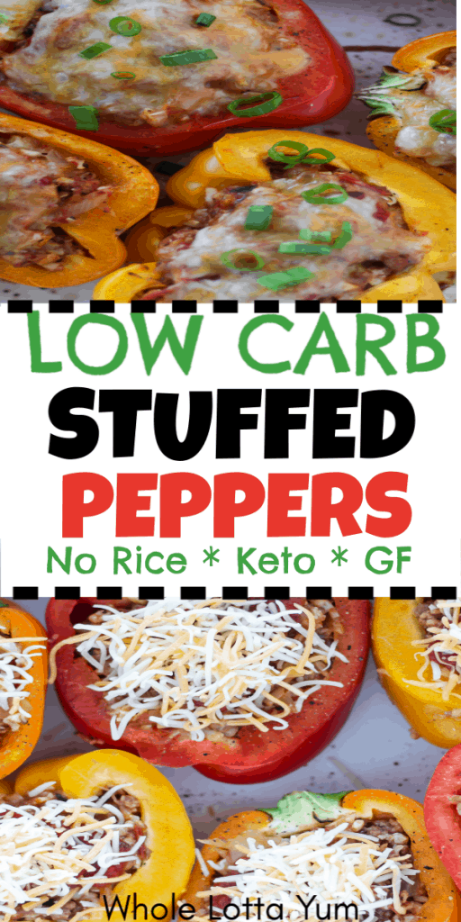 Beef stuffed peppers with no rice that are low carb and keto stuffed peppers too