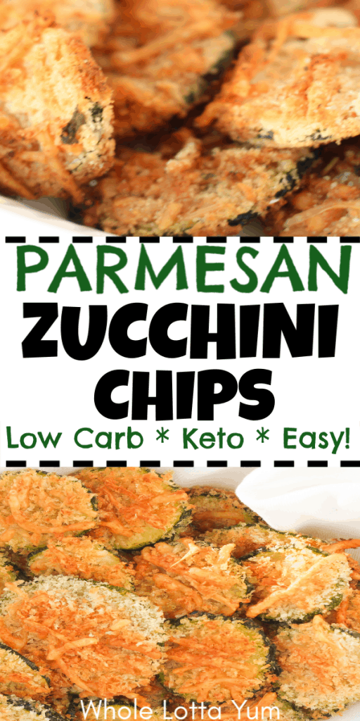 Baked zucchini parmesan chips that are low carb and Keto too