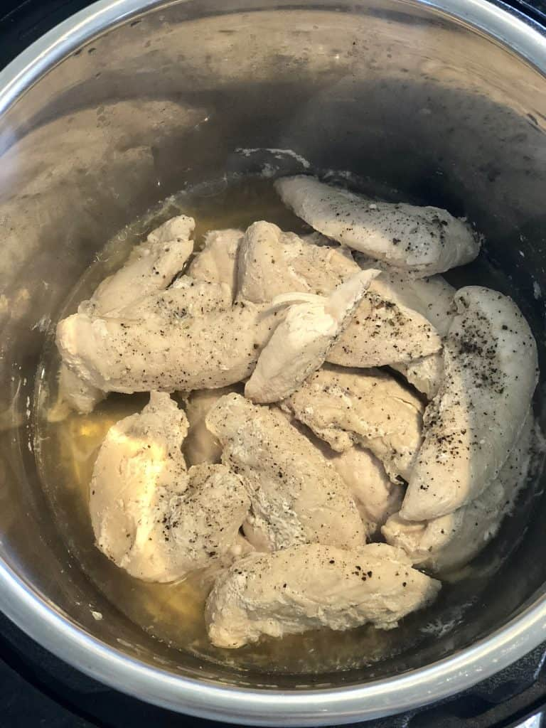 instant pot chicken tenders done cooking in a pot