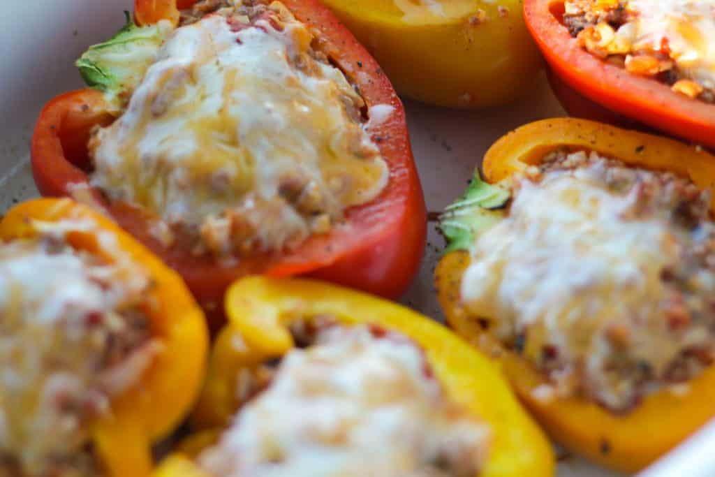 The Best Stuffed Peppers Without Rice Low Carb Whole Lotta Yum