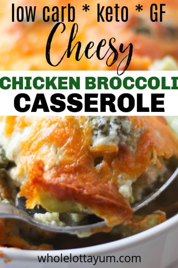keto chicken casserole with broccoli and cheese