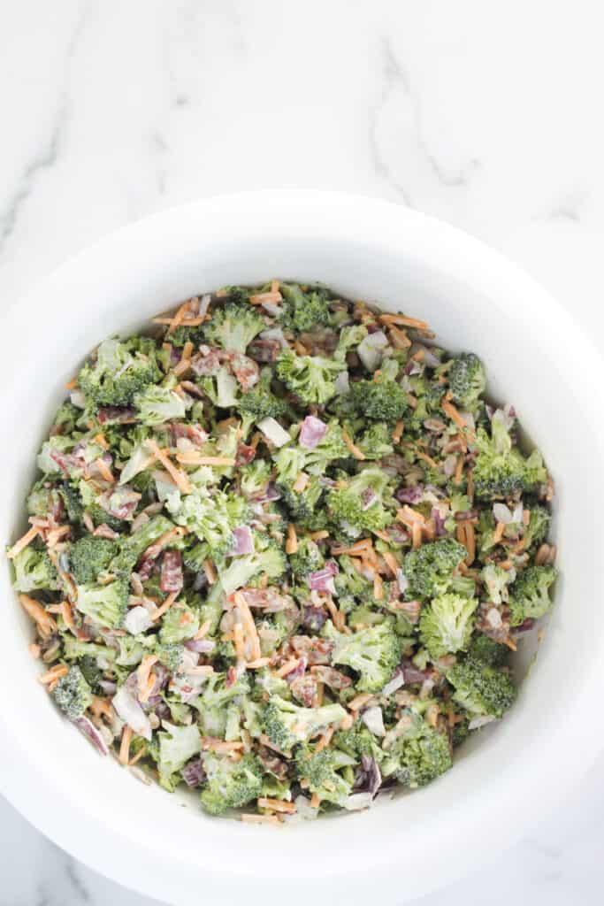 cold broccoli salad with bacon