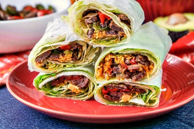 fajita lettuce wrap