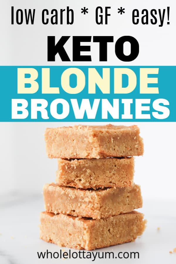 easy low carb keto blondies recipe