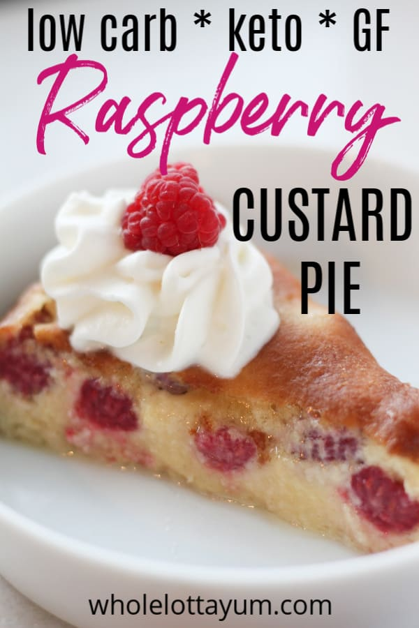 keto custard raspberry