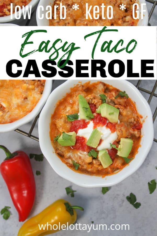 taco casserole with ground turkey