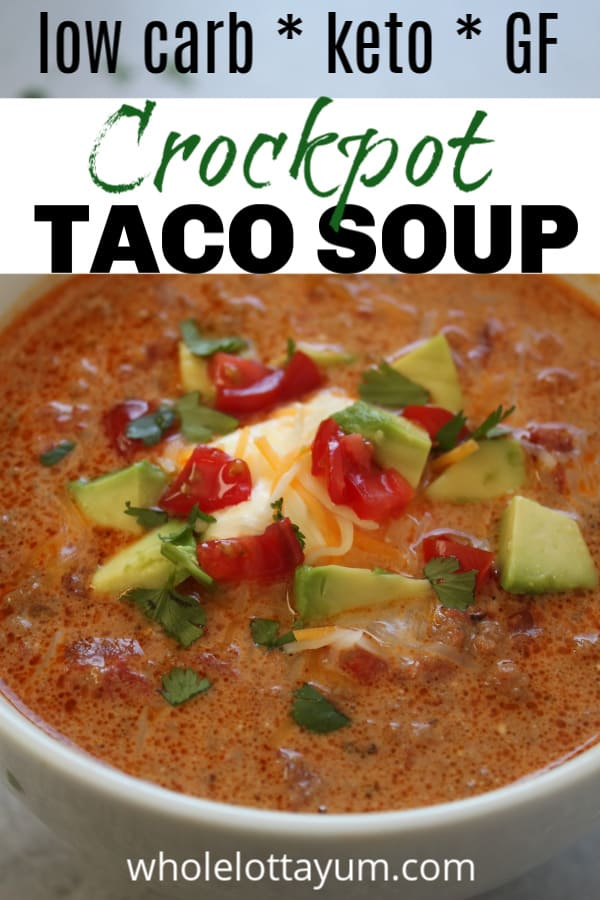 easy low carb taco soup recipe