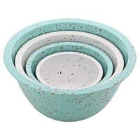 ZAK Designs 4-Pc. Nested Mixing Bowl Set, Mint & White.
