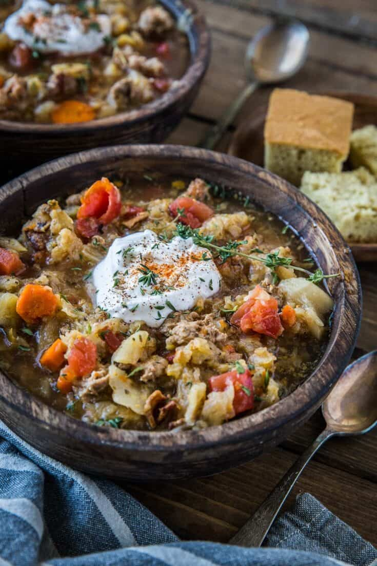 Instant Pot Sausage & Cabbage Stew