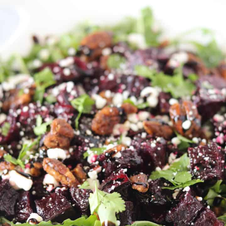 Roast Beetroot Salad with Feta and Candied Pecans