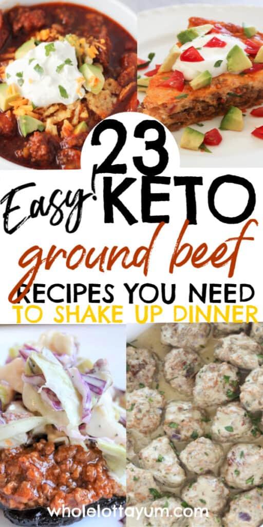 keto ground beef