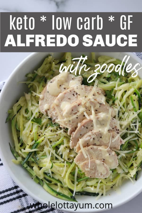 keto alfredo chicken with zoodles
