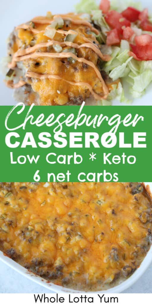 cheeseburger casserole low carb